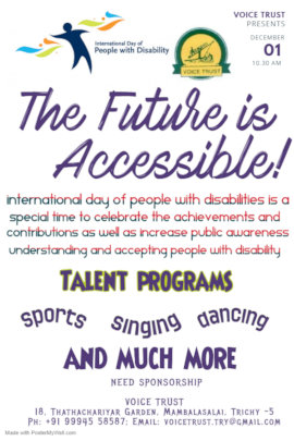 promoting International Day of Disabled Persons