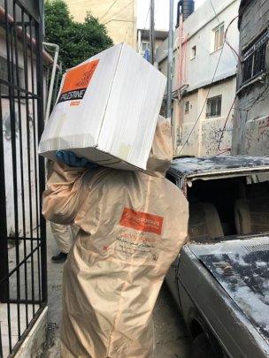 Food distribution during the coronavirus emergency
