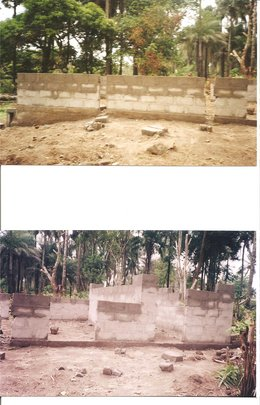 Construction of the 40ft x 20ft building