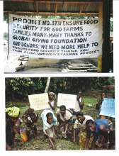 Ensure food security for 600 farm families