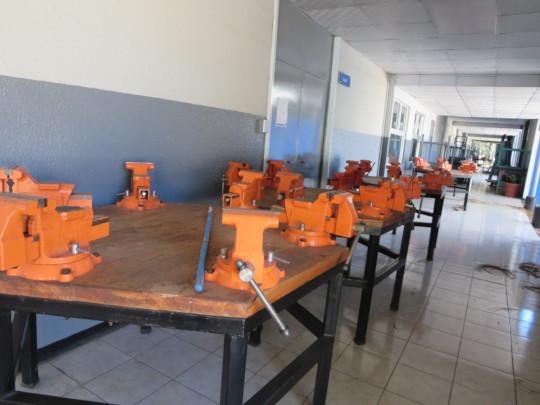 Visiting the mechanic trade school