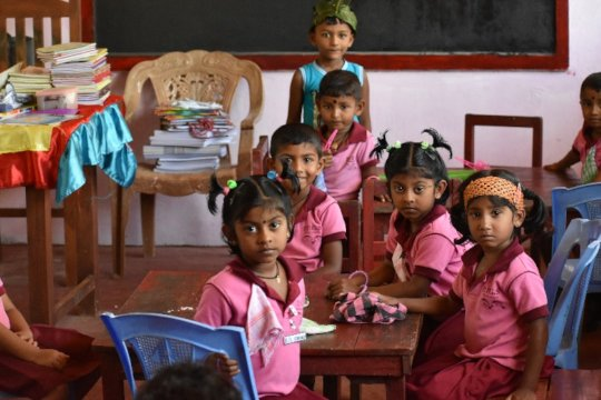 Inside the new classroom of Samadhi preschool.