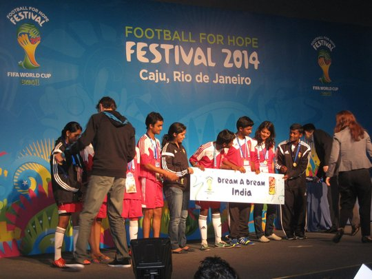 Dreamers at the Football For Hope Festival 2014