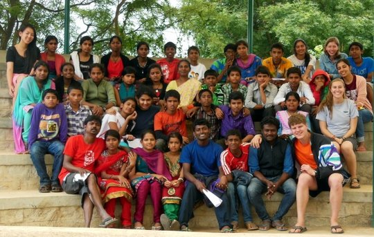 Young people and volunteers from our 4th Camp