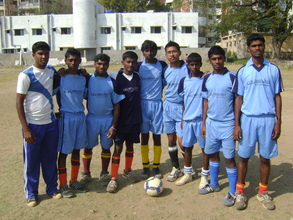 Girish with his Football Team