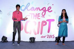 Keerthi hosting Change The Script Conference