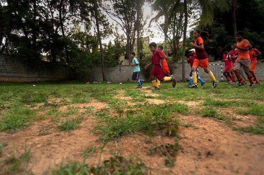 Children at a Dream Football Program