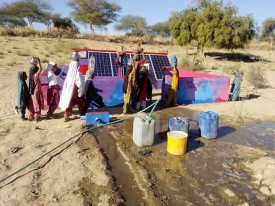 Water being Supplied to Newly Established Farm