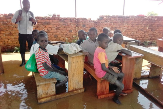 The Pupils in the only available classroom block