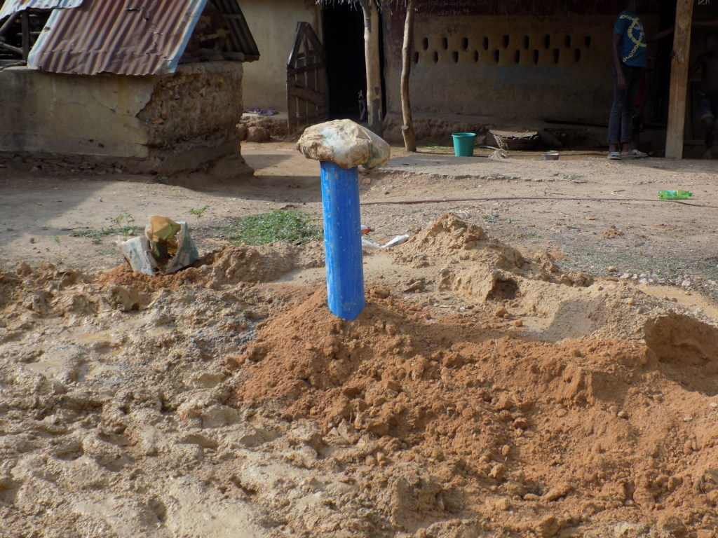 Borehole with PVC casing