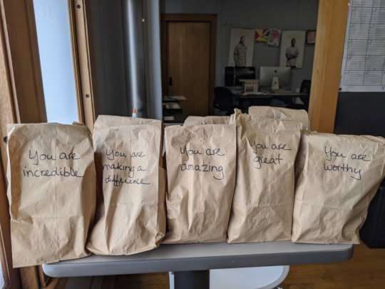 Lunches donated by generous donors for HALO Youth