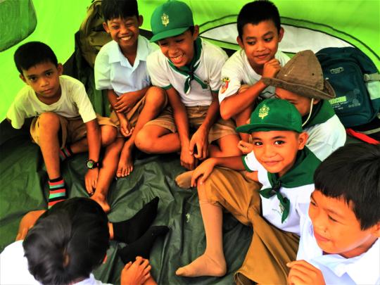 Boy scouts enjoy camporee