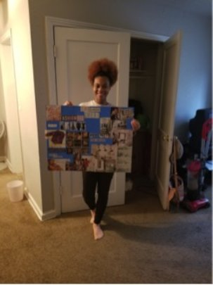 Frankie's Completed Vision Board