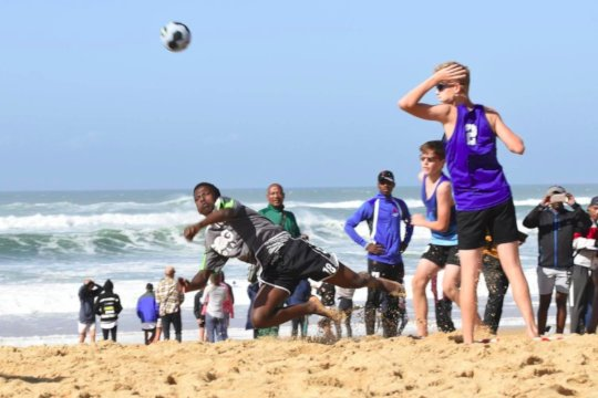 A local beach handball tournament