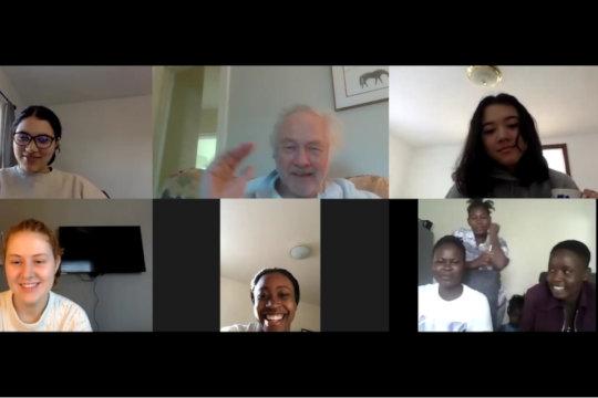 Saturday Zooms unite girls in US and Zimbabwe