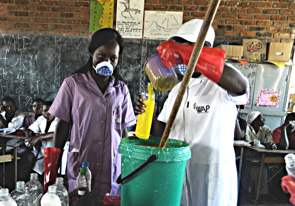 WAP girls learn to make Clean Girl soap in Harare