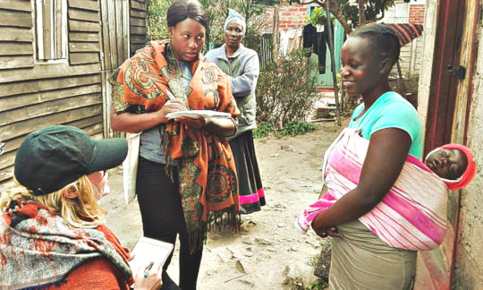 Constance spreads the word among families