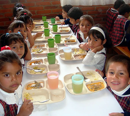 Nutritious meals for their healthy development