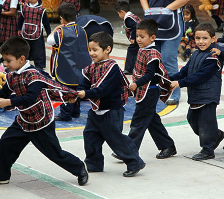 Children playing during recess