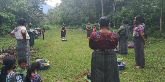 Women receive education, food and hygiene supplies