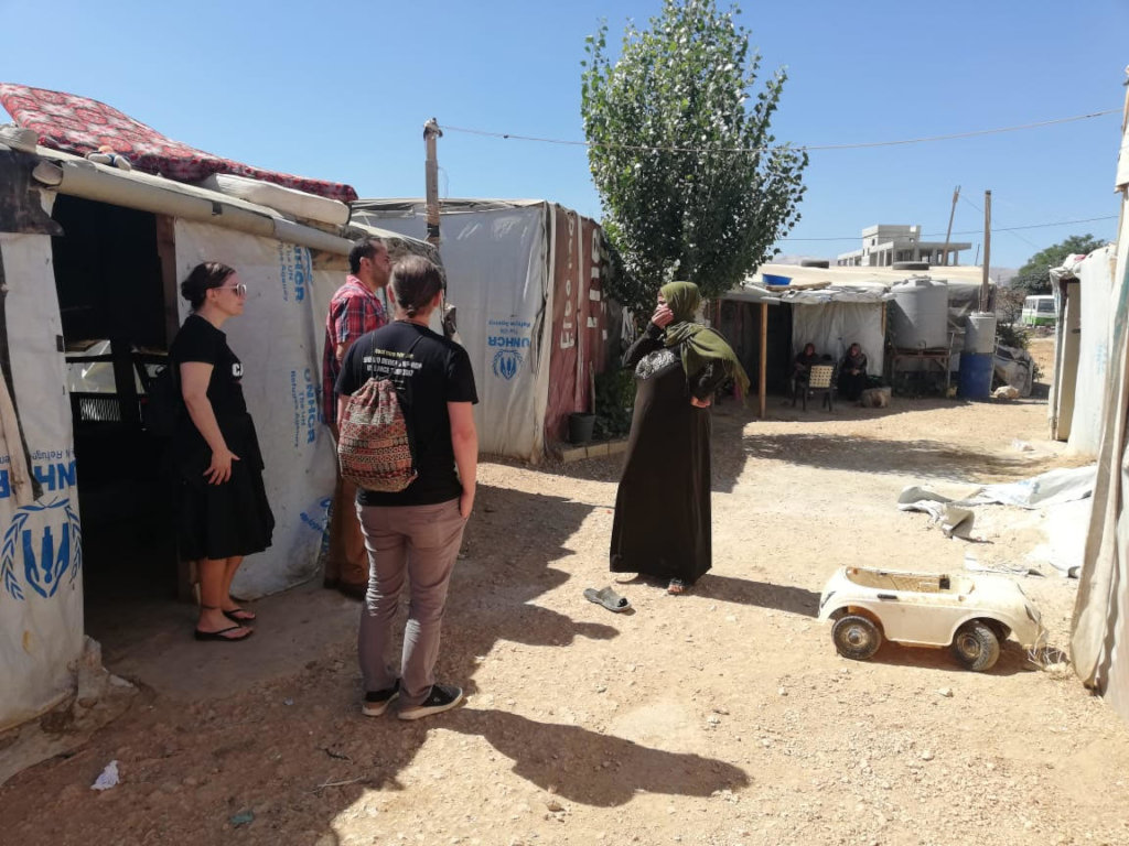 Visiting a Syrian refugee camp in Beqaa Valley