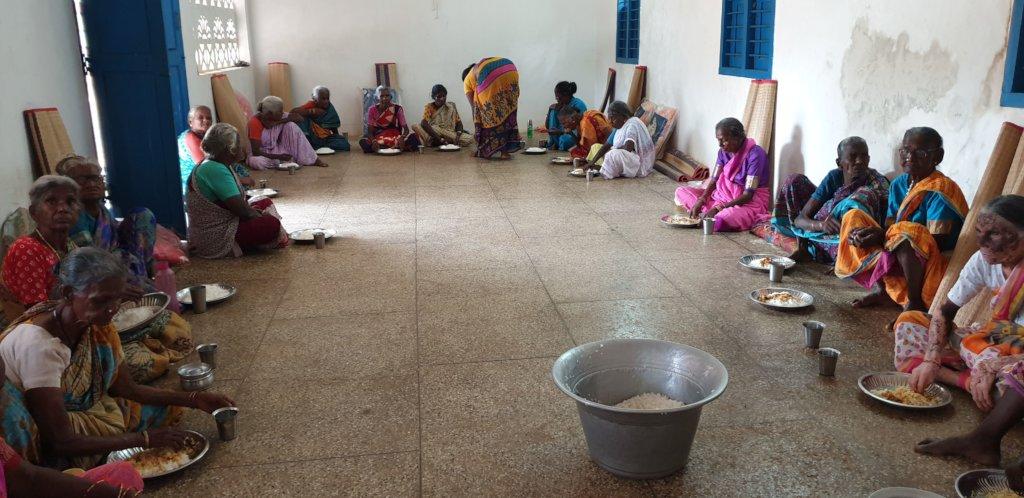 Food support to 59 neglected elders