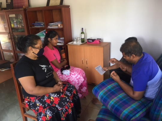 discussing student progress or issues with family