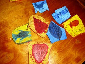 Printing blocks made from old flipflops