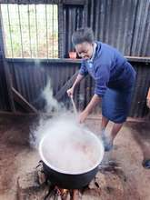 Cooking Lunch - maize and beans