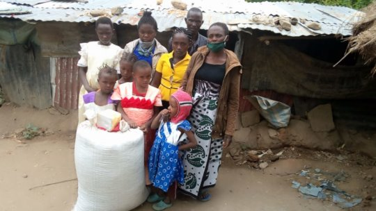 Elizabeth and her family in Kitui