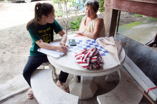 New visits with the mother of disabled neighbor