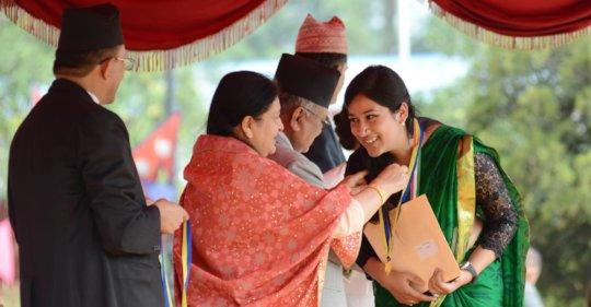Aishwarya Receiving a National Medal