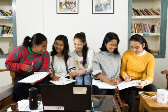 The panelists Nisha, Timila, Reeya, Labbi, Niraja