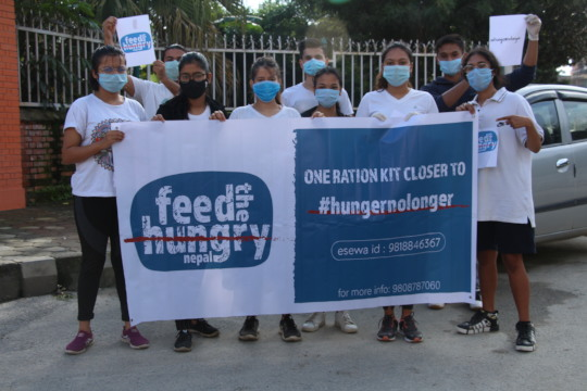 Nikki along with her Feed the Hungry Nepal team