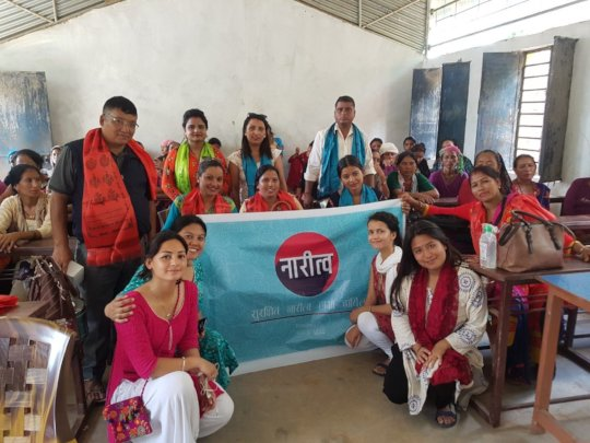 Sajju with her Naritwa Project Team in Surkhet