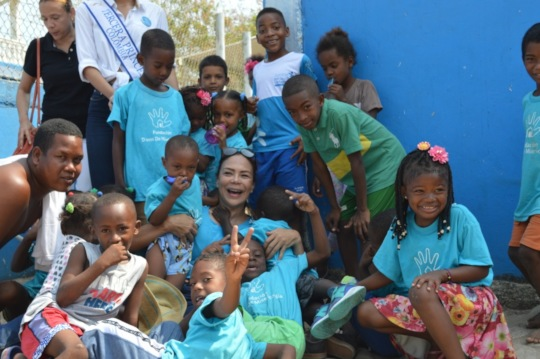 Our Founder with Children From Tierra Bomba