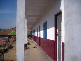 A side view of the first phase of the project