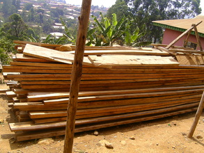 Timber already brought  ready for  roofing