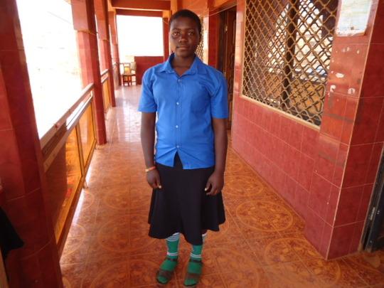 Anadel's  who is happy attending school now.