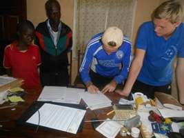 A care giver signing to take good care at home