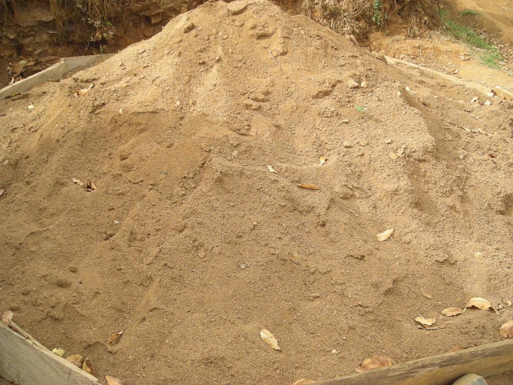 Sand already tranferred to the site