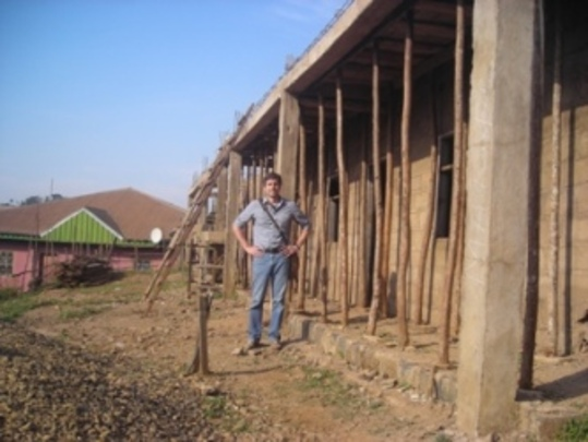 Mathew at the Construction Project Site