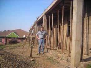 Mathew taking a walk from the Project Site