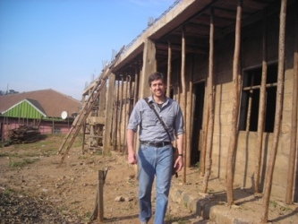 Mathew (US) visitor at the project site.