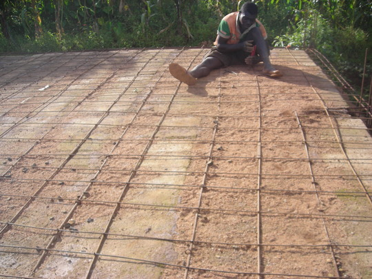 Final matting of the iron rods for final decking.