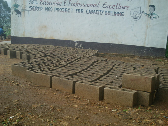 Blocks made ready for this additional classroom