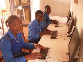 Students in small computer lab.
