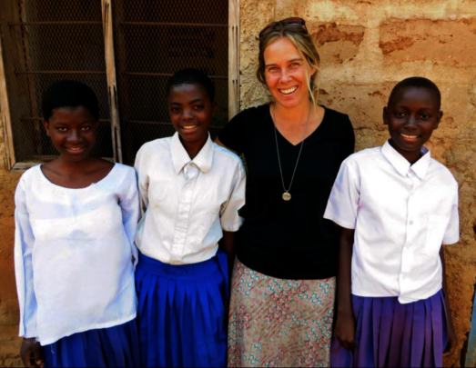 Lois in 2014 - awarded a scholarship with Girls Ed