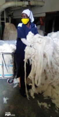 Working with Cotton in Factory