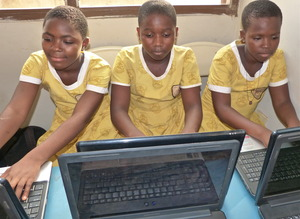 Students in the Computer Training Classroom